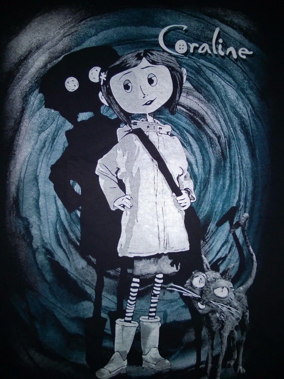 CORALINE T Shirt Tim Burton Neil Gaiman Nightmare Before Christmas ...