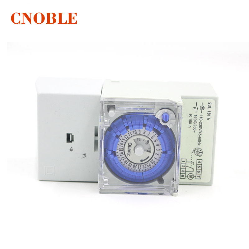 2pcs Analog 24 hours Mechanical Timer Switch SUL181h 220V AC 2pcs lot brand new sul 181d analog 24 hours mechanical din rail timer switch 15minutes