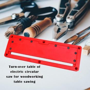 Scie Circulaire électrique Plaque De Couverture Flip-Table De Plancher Plaque De Couverture Spéciale Plaque D'insertion En Aluminium Réglable Pour Scie à Table