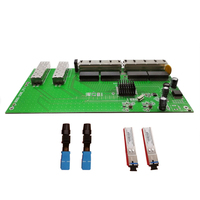 2 Ports SFP + 8 Ports POE RJ45 Reverse switch board, unmanageable along with SFP SC port 5km, 8 Rj45 Interruptor PD Operacional