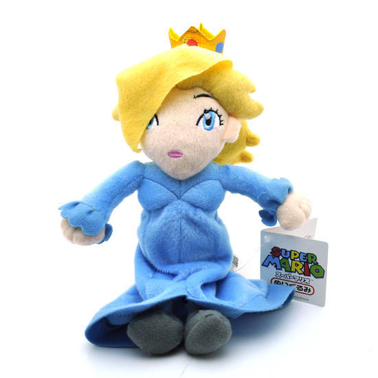 1 pcs 16 cm super mario en peluche bleu assis princesse rosalina