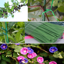 Plastic Coated Wood Cable Tie Rope Flexible Garden Twist Wire Reel Roll Plant Grow Support Gardening Ties 50m