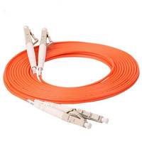 60 Meters LC LC Fiber Optic Cable MultiMode Duplex Patch Cord OM2 50/125