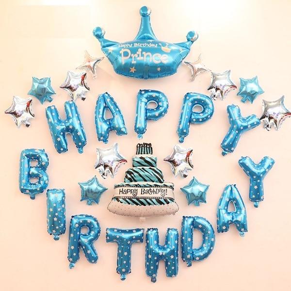 Boy Birthday Decoration Ideas Happy Birthday Letter Balloons Kit