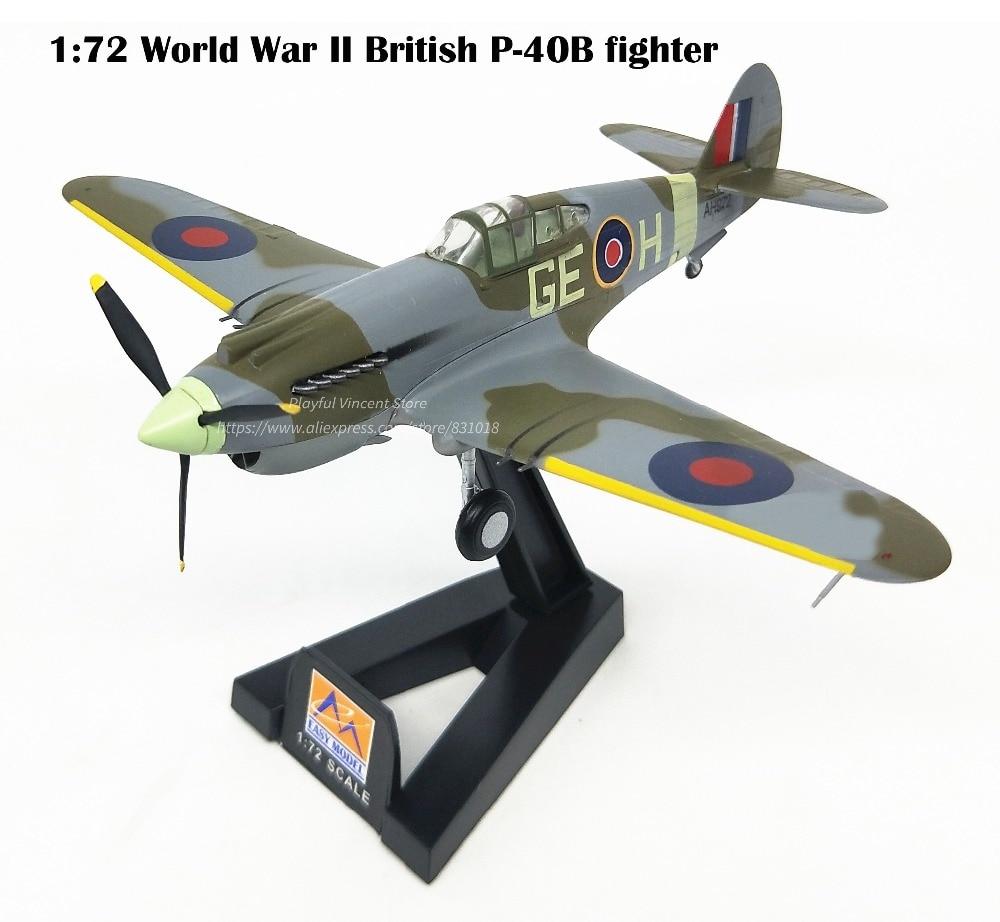 1: 72 Weltkrieg Ii Britischen P-40b Kämpfer Modell Afrikanische Schlachtfeldern Trumpeter Fertig Produkt 37207 Sammlung Modell