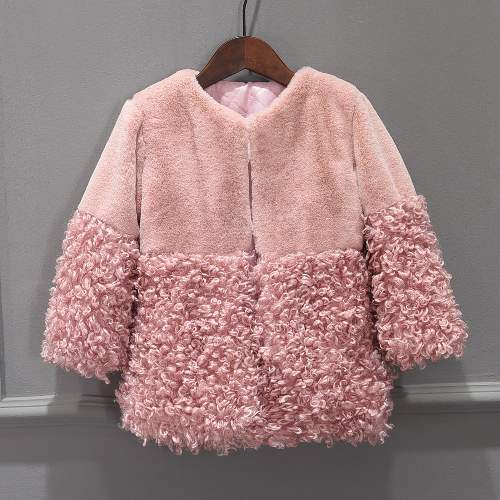 MUQGEW Toddler Baby Girls Clothes Fur Hoodie Winter Warm Coat Jacket Cute Thick Clothes for girls roupa infantil