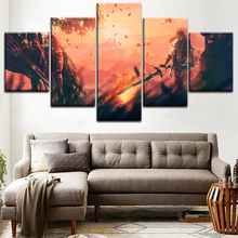Home Decor HD Printed Wall Art Pictures 5 Piece Game The Legend of Zelda Poster Landscape Canvas Painting Living Room