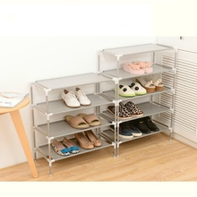New Stainless steel  Fabric Storage Shoe Rack Hallway Cabinet Organizer Holder 2/3/4/5/6 Layers Select Shelf DIY Home Furniture
