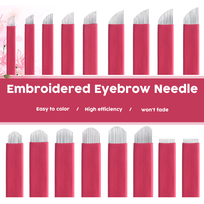 0.2mm Full Professional Permanent Makeup Red Blade Eyebrow Tattoo Needles Tebori Blade For Dermograph Micropigmentation