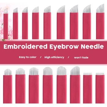 0.2mm Full Professional Permanent Makeup Red Blade Eyebrow Tattoo Needles tebori Blade For dermograph micropigmentation