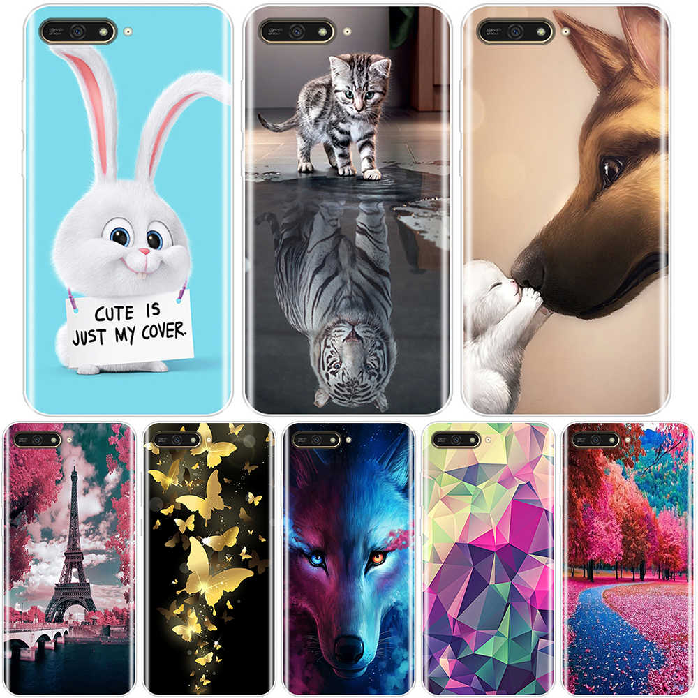 Soft Back Cover For Huawei Y5 Y6 Y7 Prime 2017 2018 Y9 2019 Lovely animals Phone Case Silicone For Huawei Y3 Y5 Y6 II Y7 Pro