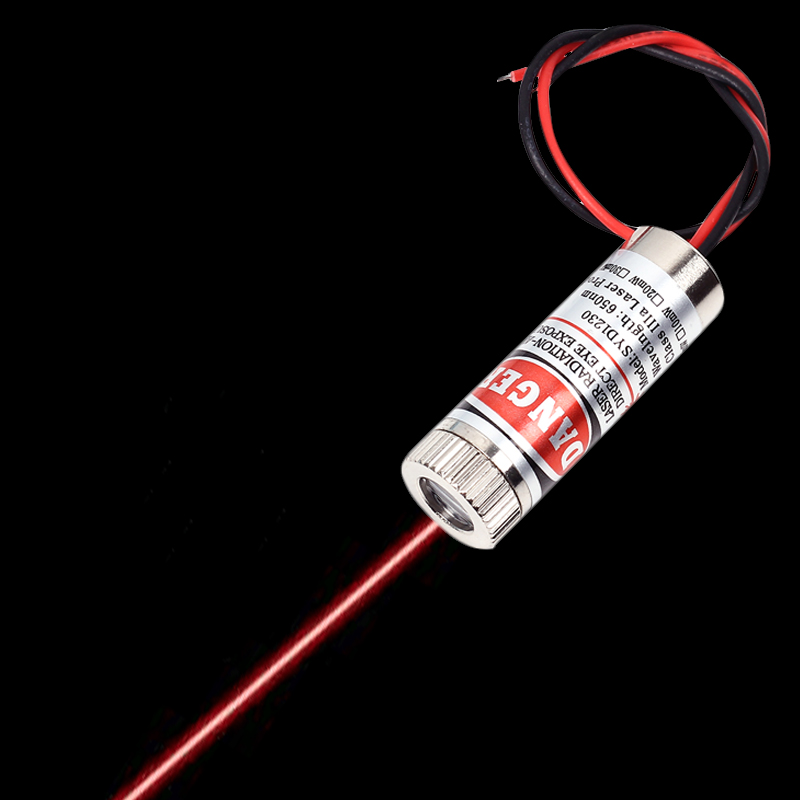 650nm 5mW 5V Red Line Laser Module Laser Diode Module 135mm Focusable Lens Laser Test Tools For DIY