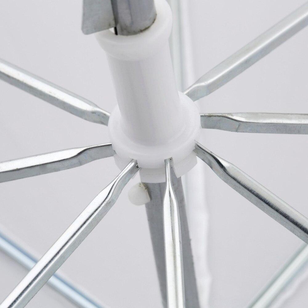 Легкий 33 дюйма 83 см профессиональный студийный фотовспышка полупрозрачный мягкий люминесцентный зонтик белый нейлоновый материал алюминиевый вал