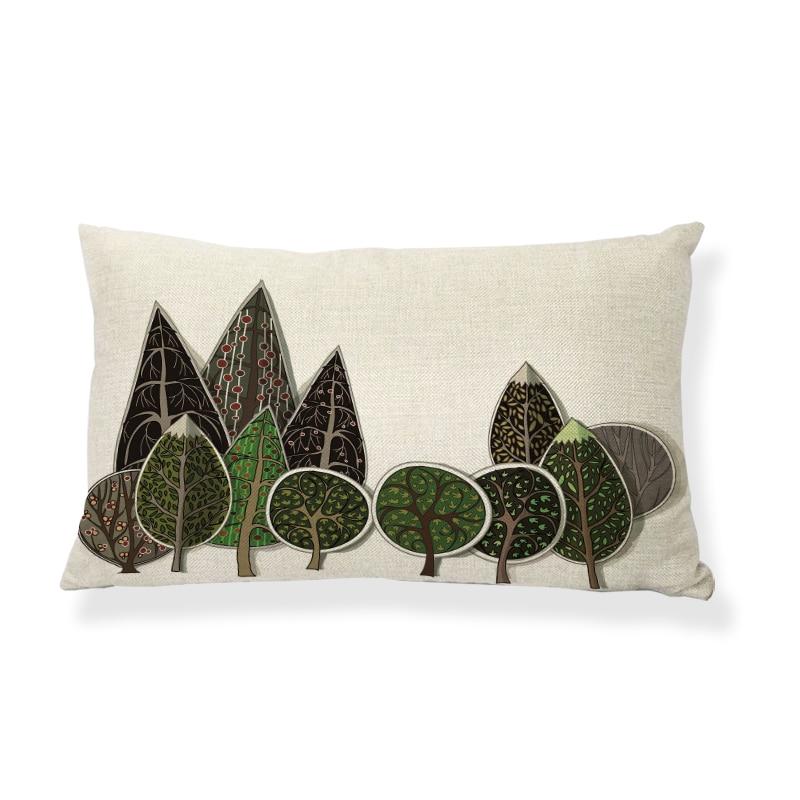 Hot Sale New Nordic View Printed Pillow Cases Sofa Fashion Cushion Covers Home Decor Throw Pillows Fundas Para Almofadas 30x50cm