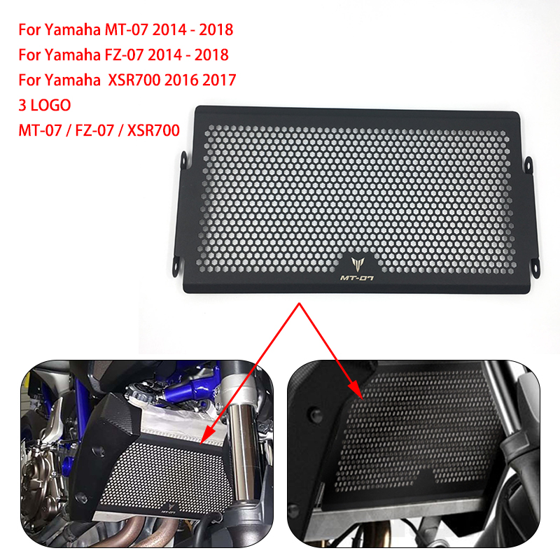 MT-07//FZ-07//XSR700 2014-2018 Radiator Grill Grille Guard Cover For YAMAHA
