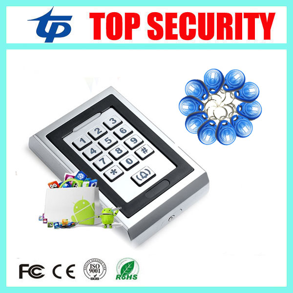 8000 usrs standalone RFID EM card access control reader with led keypad IP65 waterproof 125KHZ ID door access controller systems rfid ip65 waterproof access control touch metal keypad standalone 125khz card reader for door access control system 8000 users