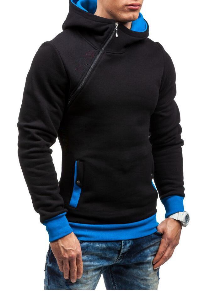 HEYKESON Brand 2017 Hoodie Oblique Zipper Solid Color Hoodies Men Fashion Tracksuit Male Sweatshirt Hoody Mens Purpose Tour XXL HEYKESON Brand 2017 Hoodies, with an chest Zipper HTB1gXn6SFXXXXaIXXXXq6xXFXXXR