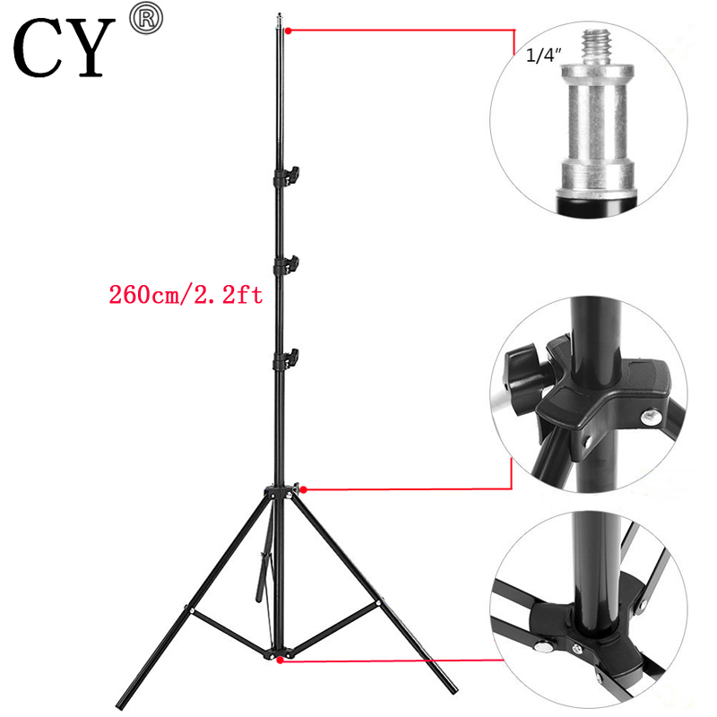 CY High Quality 260cm Photo Video Light Stands Photography Studio Light Stand Tripod Photo Studio Accessories Hot Selling цена