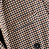 Women Elegant Plaid Blazer Suit Long Sleeve Double Breasted Slim Checked Coat Formal Office Work Jacket Houndstooth Outerwear 24
