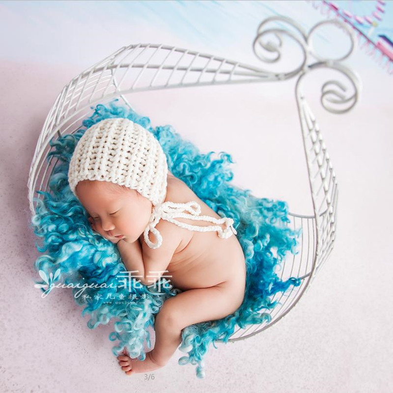 Newborn Baby Photography Studio Iron Basket Props Infant bebe fotografia Accessories Baby Girl Boy Photo Shoot Basket Box Props цены