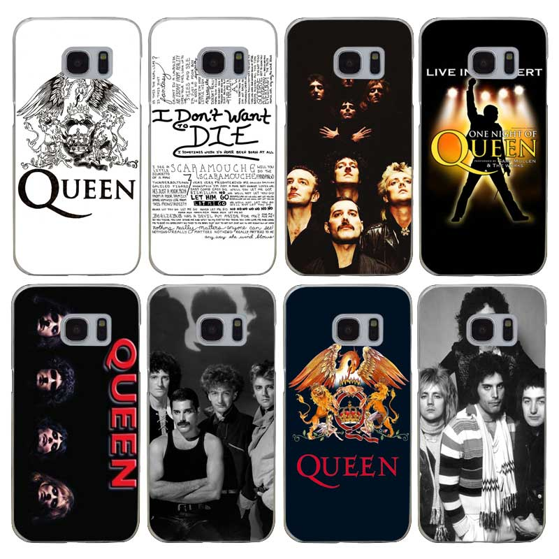 G232 Queen Rock Group Transparent Hard PC Case Cover For Samsung Galaxy S 3 4 5 6 7 8 Mi ...