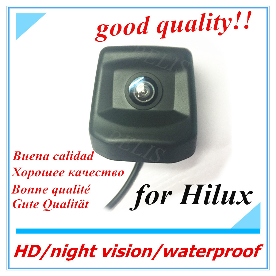 HD CCD RCA night vision Back Reverse Hole OEM Parking Reverse Camera For Toyota Hilux 2010 ~2017 Car Rear View Camera