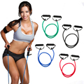 New Arrival Fitness Resistance Bands Resistance Rope Tube Elastic Exercise Bands for Yoga Pilates Workout
