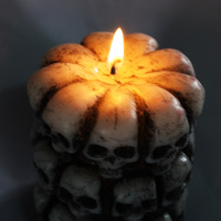 2017 new halloween party decoration skull head candle lighted skulls candles lights funny skull candlestick.jpg 200x200