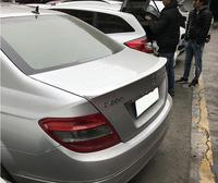 Unpainted ABS CAR REAR WING TRUNK LIP SPOILER FOR BENZ W204 AMG C class C200 C230 C260 C180 2008 2009 2010 2011 2012 2013