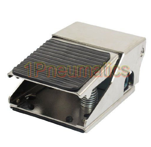 Free Shipping FV-320 3/2 Way Foot Pressure Control 12mm Threaded Air Pneumatic Pedal Valve Switc