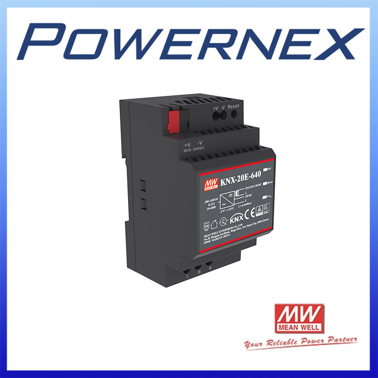 FREE SHIPPING [PowerNex] MEAN WELL KNX-20E-640 19.2W KNX Power Supply MEANWELL KNX-20E