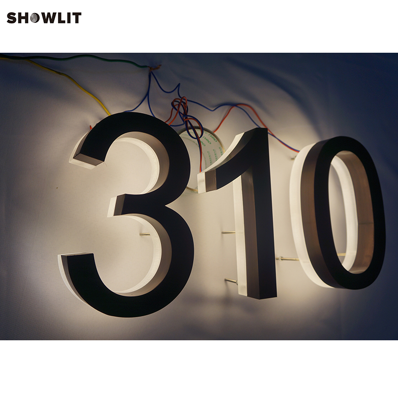 Custom Modern Waterproof LED Outdoor House Numbers custom made outdoor warm white led backlit house numbers