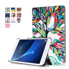 PU Leather-based Stand Case Cowl For Samsung Galaxy Tab A 7.zero T280 T281 T285 T288 SM-T280 7″ Pill + 2Pcs Clear Display screen Protector