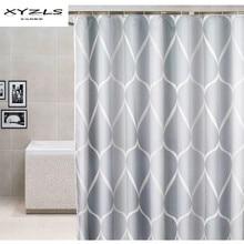 XYZLS серый Душ шторы водостойкий ванная комната занавеска из полиэстеровой ткани для Ванной Экраны с Крючки дома ванная комната Декор