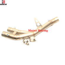 Motorcycle Exhaust Connect Link Pipe Adapter Middle Tube Steel Escape ship on for Yamaha YZF R1 YZFR1 Exhaust 2015 2016 2017