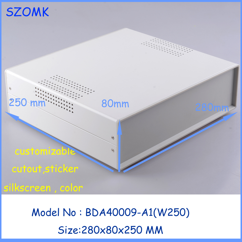 (1pcs)280x80x250mm electronic project box extrusion enclosure housing electronic box steel iron housing project case 4pcs a lot diy plastic enclosure for electronic handheld led junction box abs housing control box waterproof case 238 134 50mm