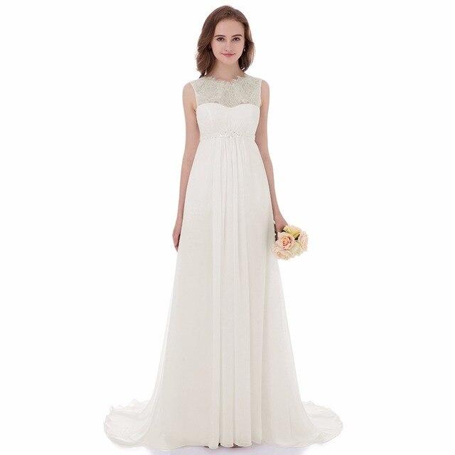 Настоящая фотография Для женщин Кружево империи беременная Свадебные платья Винтаж Шифоновое Платье Vestidos De Noiva брак Robe De Mariage