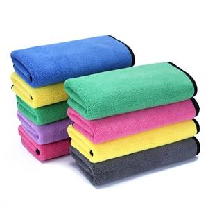 Image 2 - 2 pz/lotto Panno di Pulizia asciugamano In Microfibra Auto Lavaggio Auto Peluche di Pulizia Lavaggio Asciugatura Asciugamano Super Assorbente Trasporto Libero