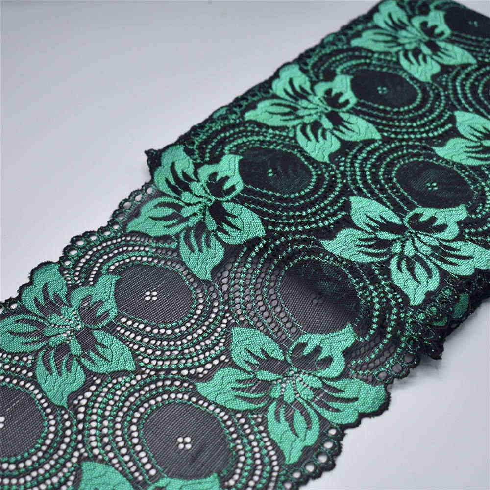 18CM breed Stretch Elastische kant lint Kant Trim geborduurde nigeriaanse afrikaanse kant stof wit kant Trim trimmings voor naaien