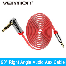 Vention 3.5mm Aux Cable Jack to Jack Gold Plated 90 Degree Right Angle Audio Cable for Car android Samsung iphone Ipod