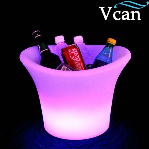 ФОТО LED Light Up Illuminated Glowing Wine Holders ice bucket VC-I3627