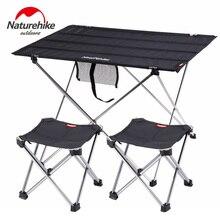 Mesa de Camping Naturehike plegable, Rollo portátil, mesa de pesca plegable para exteriores, mesa de Picnic plegable de aluminio ultraligera