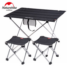Naturehike plegable de aluminio ligero portátil enrollable al aire libre plegable mesa de Camping Patio de Metal mesa de Picnic plegable(China)