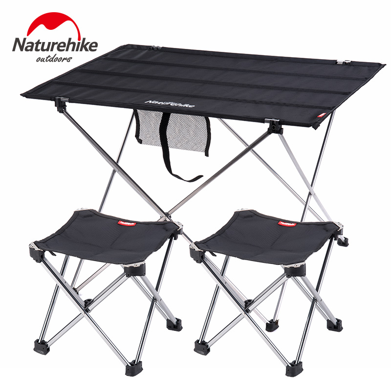Naturehike Collapsible Ultralight Portable Aluminium Roll Up Outdoor Folding Camping Table Fishing Table Foldable Picnic Table