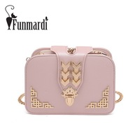 FUNMARDI Luxury Brand Design PU Leather Messenger Bag New Style Fashion Clutch Bag 3 Layer Women