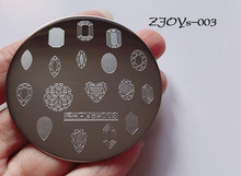 Zjoys-003 2018 NEW 5.5cm Manicure Plate High Quality Stainless Round Geometric Water Drop Nail Art Stamp Image plate