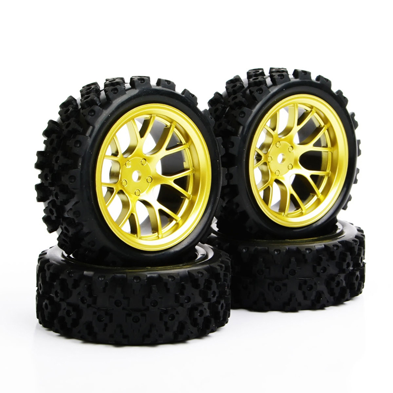 Image 5 - 4pcs/set Racing Off Road Tires 12mm Hex Rubber Tyre Wheel Rim For RC 1:10  Vehicle Toys Accessories-in Parts & Accessories from Toys & Hobbies