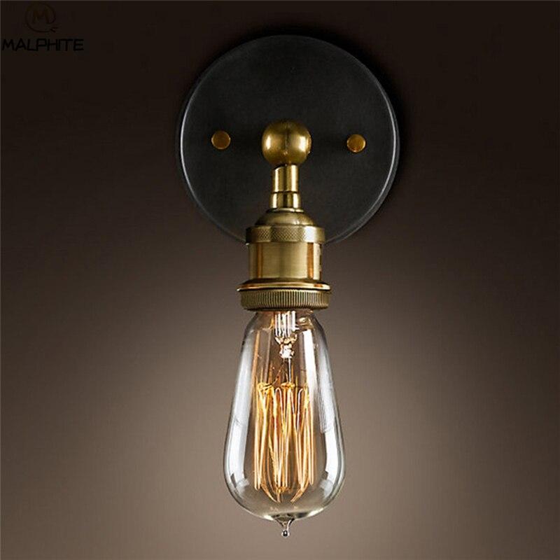 Americano retro arandela lâmpadas de parede do