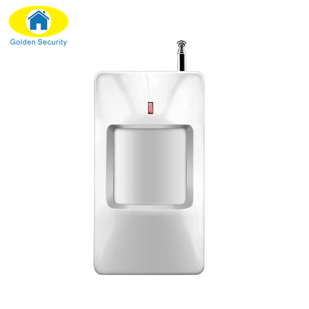Golden Security Wireless PIR Motion Sensor Detector For Wireless GSM/PSTN Auto Dial Home Security Alarm System 315/433MHz 315 433mhz wireless pir sensor motion detector for wireless gsm pstn auto dial home security alarm system with battery