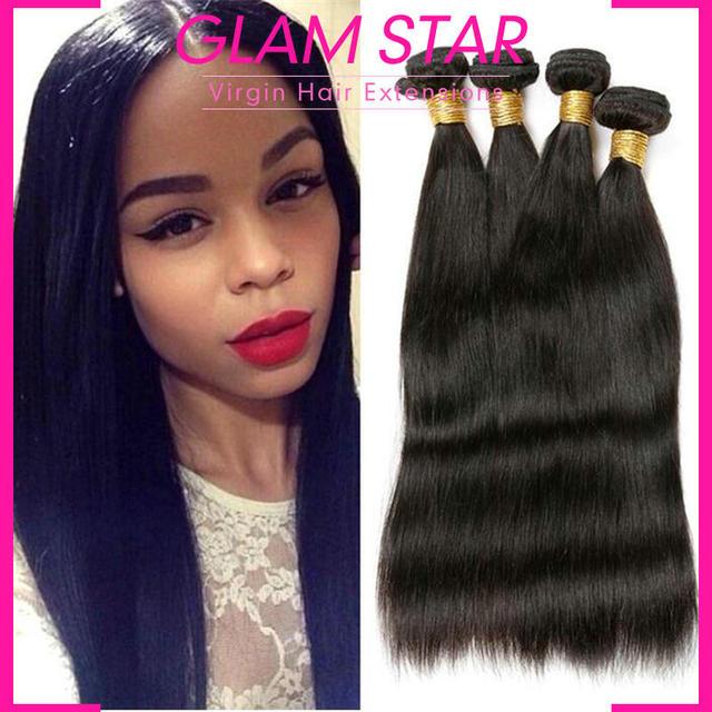 Glam Star Hair 7a Peruvian Virgin Hair Straight Peruvian Hair Weave